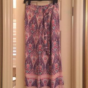 NWOT Ella Moss Blue, Pink and Purple Paisley-S-